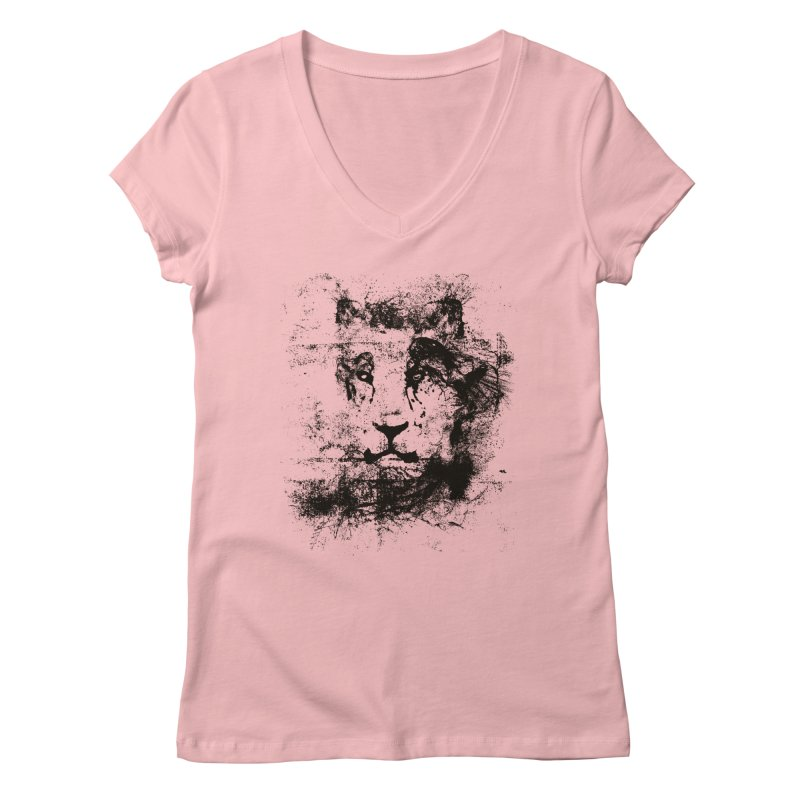 Ink Lion | On Sale!  ➔ Women's V-Neck by The Mindful Tee