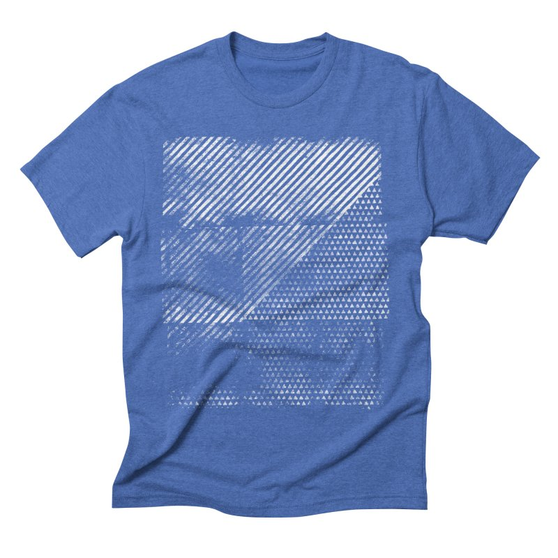 Pattern #1 in Men's Triblend T-shirt Blue Triblend by The Mindful Tee