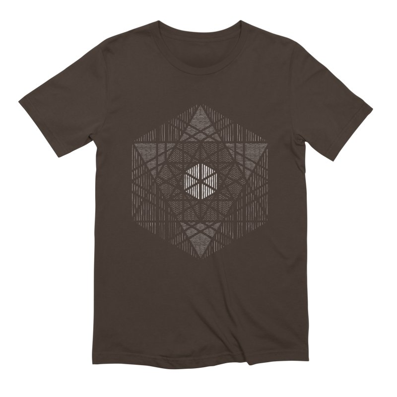 Yoga Geometry Abstraction Men's Extra Soft T-Shirt by The Mindful Tee