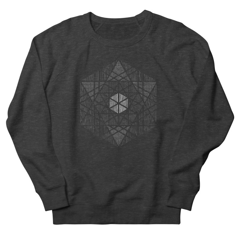 Yoga Geometry Abstraction in Women's French Terry Sweatshirt Smoke by The Mindful Tee