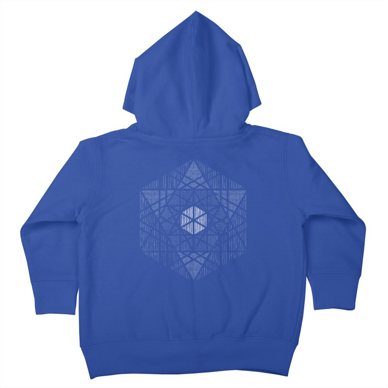 Yoga Geometry Abstraction Kids Toddler Zip-Up Hoody by The Mindful Tee