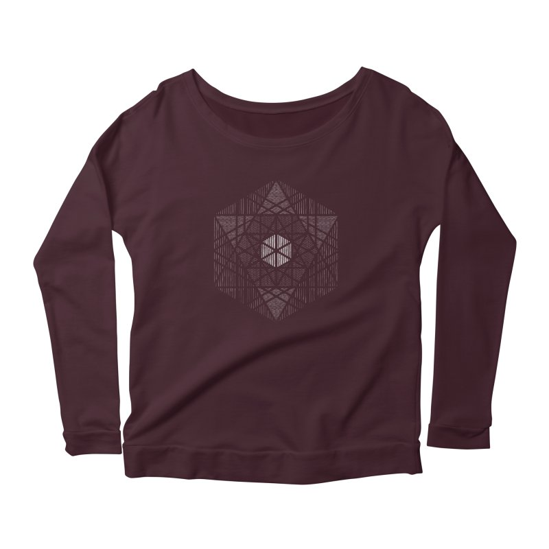 Yoga Geometry Abstraction Women's Longsleeve T-Shirt by The Mindful Tee