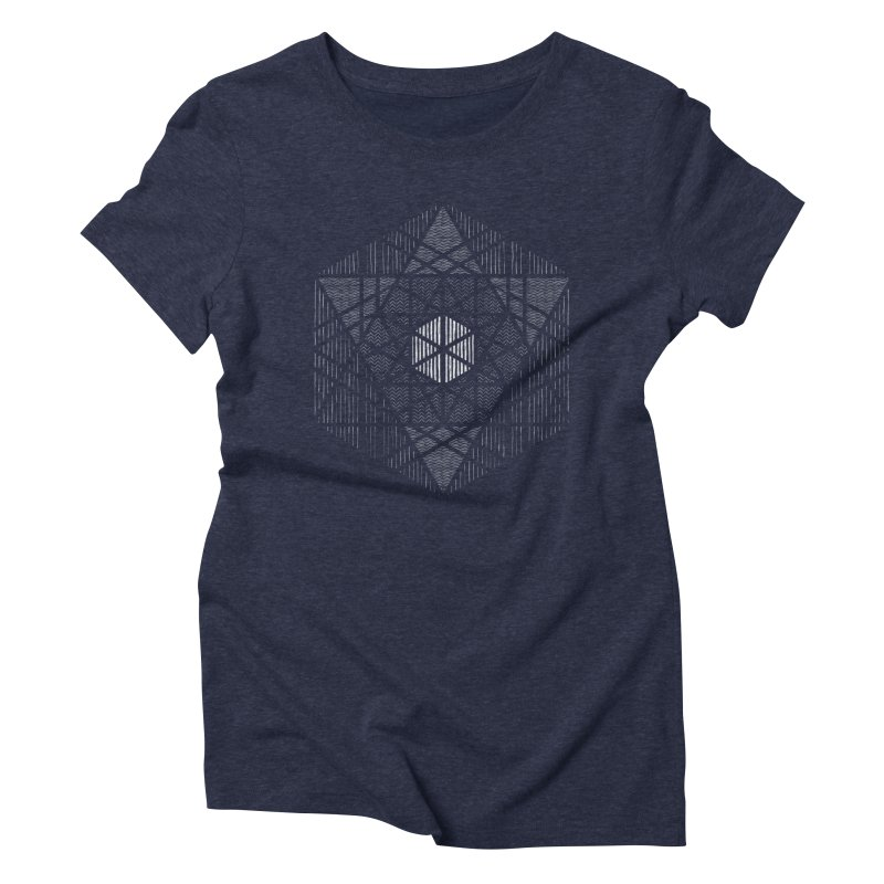 Yoga Geometry Abstraction Women's Triblend T-Shirt by The Mindful Tee