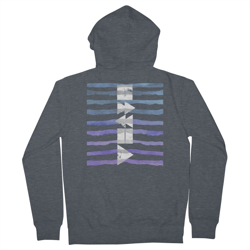 Stop, Pause... and Play Men's French Terry Zip-Up Hoody by The Mindful Tee