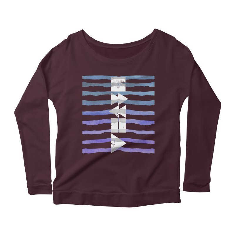 Stop, Pause... and Play Women's Longsleeve Scoopneck  by The Mindful Tee
