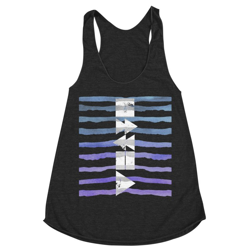 Stop, Pause... and Play Women's Racerback Triblend Tank by The Mindful Tee