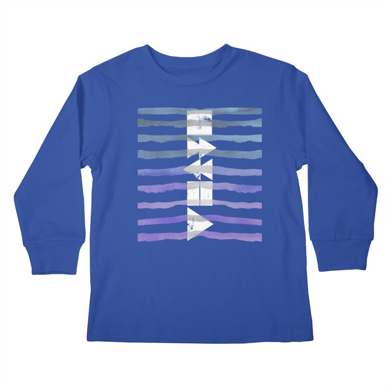 Stop, Pause... and Play Kids Longsleeve T-Shirt by The Mindful Tee