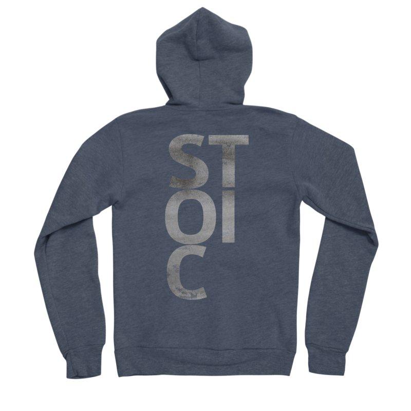 Stoic Philosophy All Type T-shirt Men's Sponge Fleece Zip-Up Hoody by The Mindful Tee