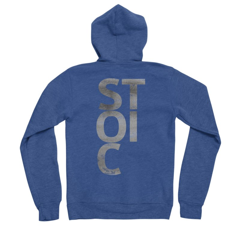 Stoic Philosophy All Type T-shirt Men's Sponge Fleece Zip-Up Hoody by The Mindful Tee
