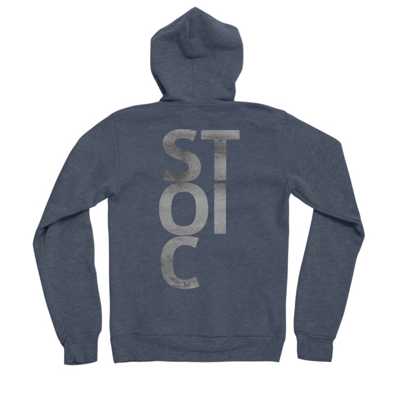 Stoic Philosophy All Type T-shirt Women's Sponge Fleece Zip-Up Hoody by The Mindful Tee
