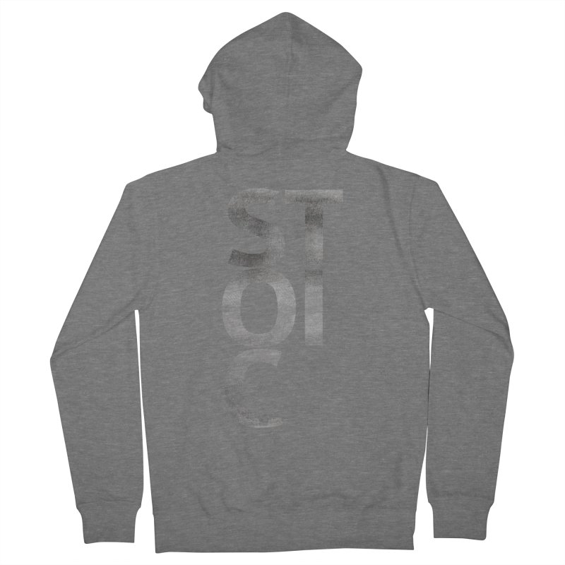 Stoic Philosophy All Type T-shirt Women's French Terry Zip-Up Hoody by The Mindful Tee