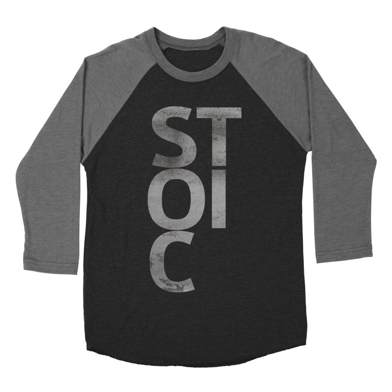 Stoic Philosophy All Type T-shirt Men's Baseball Triblend Longsleeve T-Shirt by The Mindful Tee