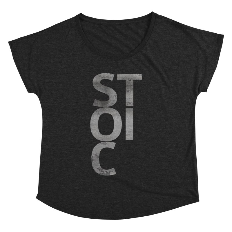 Stoic Philosophy All Type T-shirt Women's Dolman Scoop Neck by The Mindful Tee