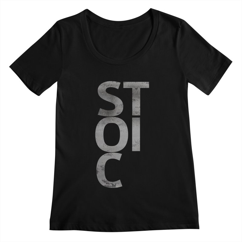 Stoic Philosophy All Type Women's Scoopneck by The Mindful Tee
