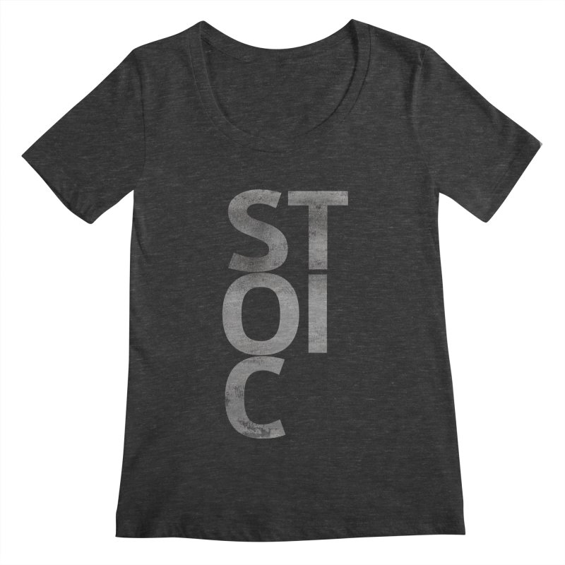 Stoic Philosophy All Type T-shirt Women's Scoopneck by The Mindful Tee