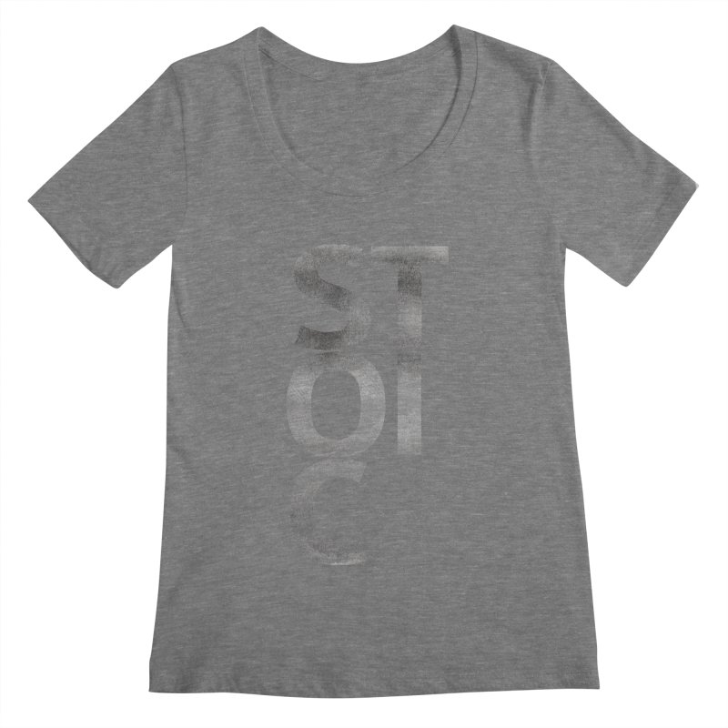 Stoic Philosophy All Type T-shirt Women's Regular Scoop Neck by The Mindful Tee