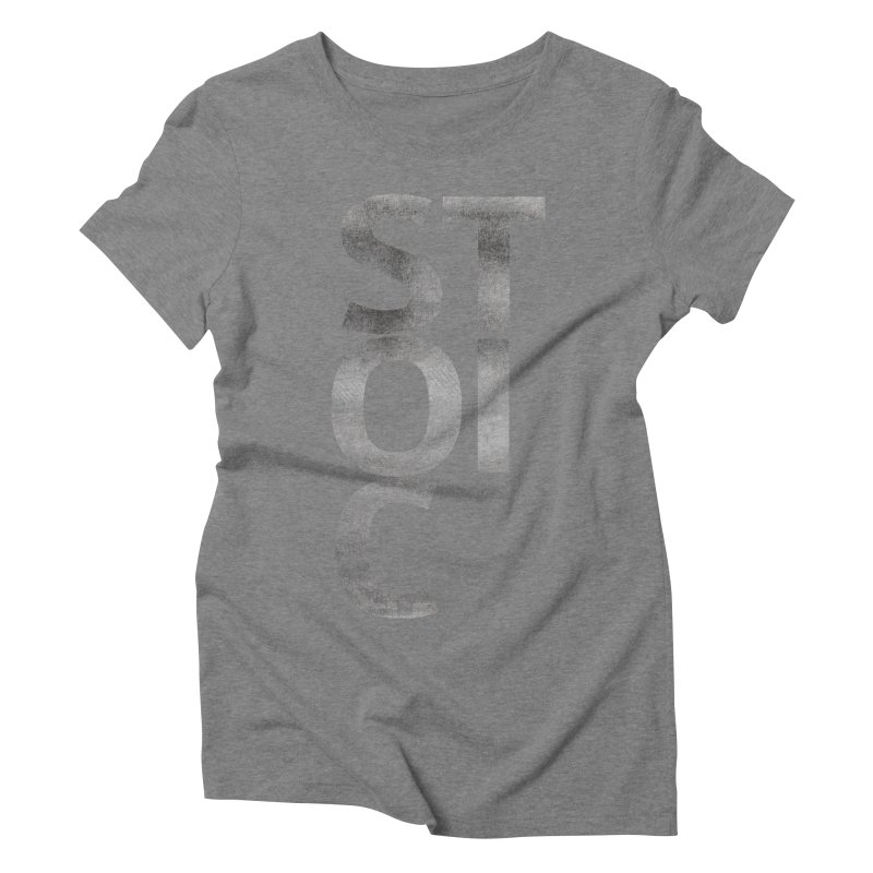 Stoic Philosophy All Type T-shirt Women's Triblend T-Shirt by The Mindful Tee