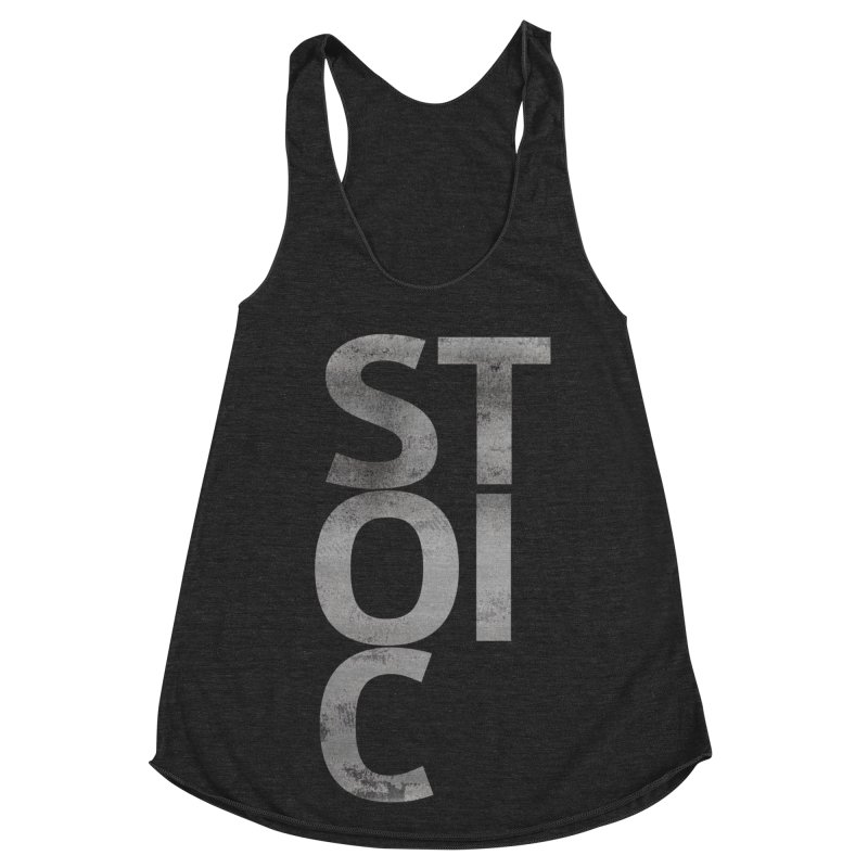 Stoic Philosophy All Type T-shirt Women's Racerback Triblend Tank by The Mindful Tee