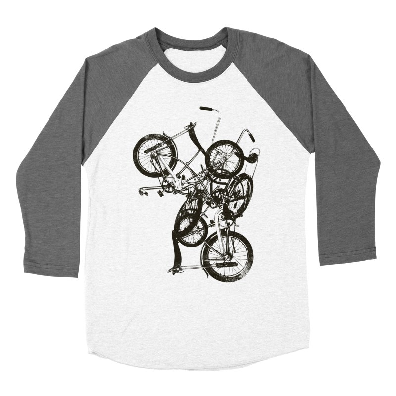 Bike Chaos | On Sale!   ➔ in Women's Baseball Triblend Longsleeve T-Shirt Tri-Grey Sleeves by The Mindful Tee