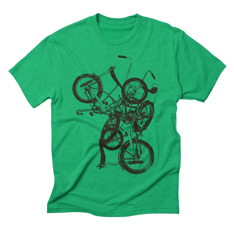 Bike Chaos | On Sale!   ➔ in Men's Triblend T-shirt Tri-Kelly by The Mindful Tee