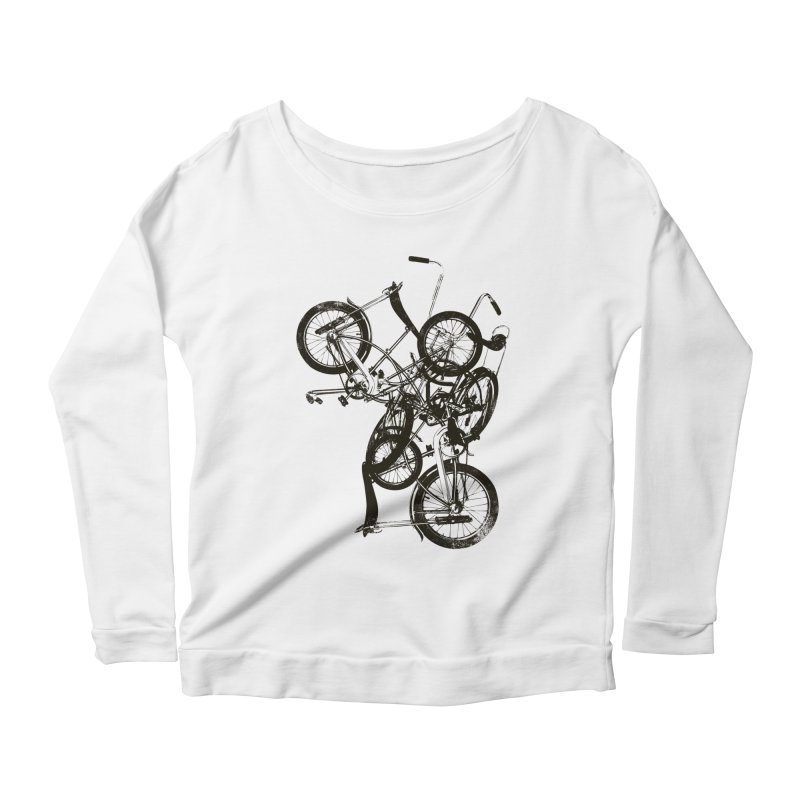 Bike Chaos | On Sale!   ➔ Women's Scoop Neck Longsleeve T-Shirt by The Mindful Tee