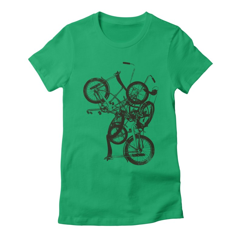 Bike Chaos | On Sale!   ➔ Women's Fitted T-Shirt by The Mindful Tee