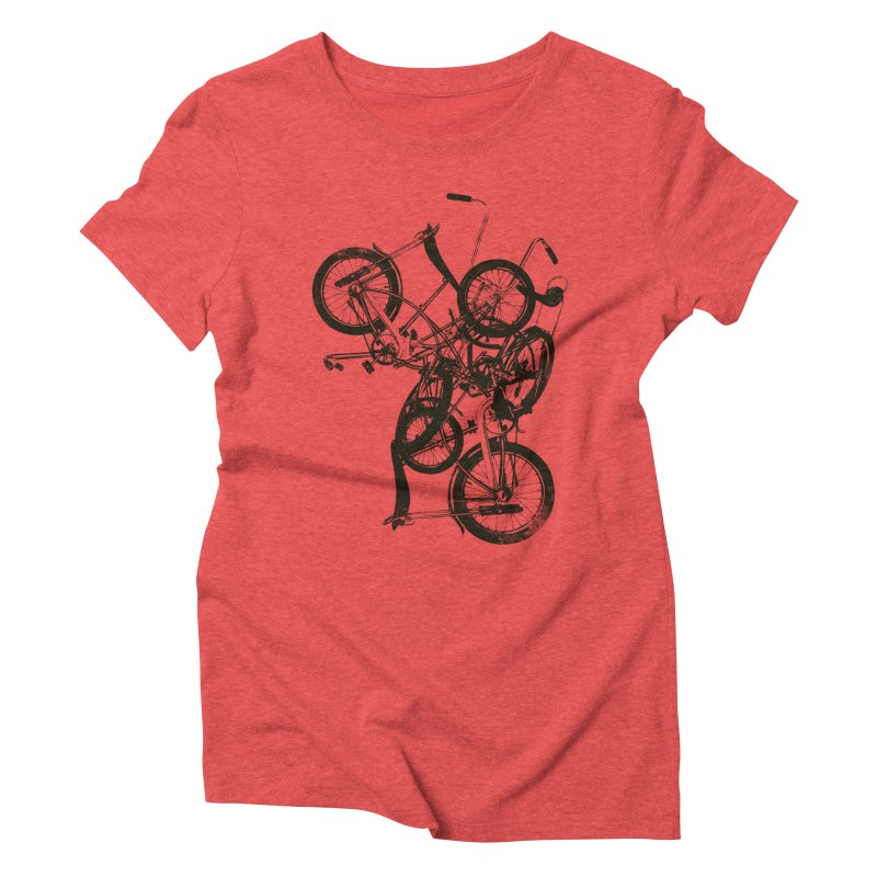 Bike Chaos | On Sale!   ➔ in Women's Triblend T-shirt Chili Red by The Mindful Tee