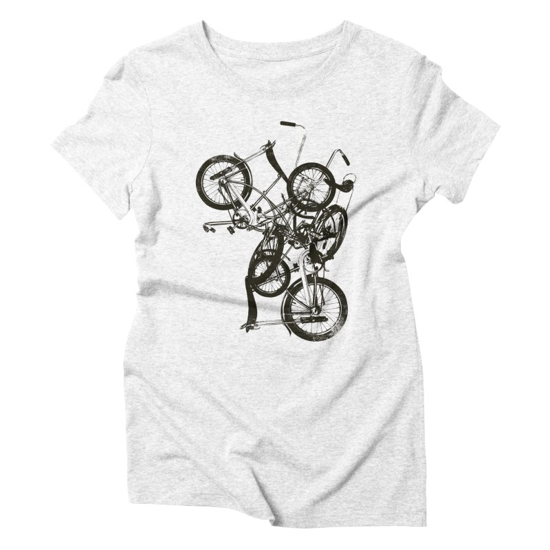 Bike Chaos | On Sale!   ➔ in Women's Triblend T-shirt Heather White by The Mindful Tee