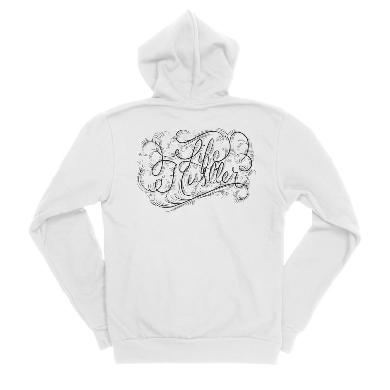 Life Hustler (Clear colors). Men's Zip-Up Hoody by The Mindful Tee