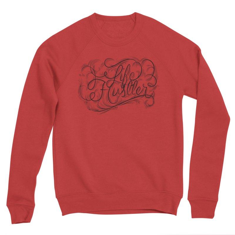Life Hustler (Clear colors). Women's Sponge Fleece Sweatshirt by The Mindful Tee