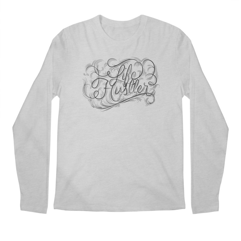 Life Hustler (Clear colors). Men's Longsleeve T-Shirt by The Mindful Tee