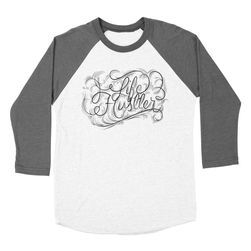 Life Hustler (Clear colors). Men's Baseball Triblend Longsleeve T-Shirt by The Mindful Tee