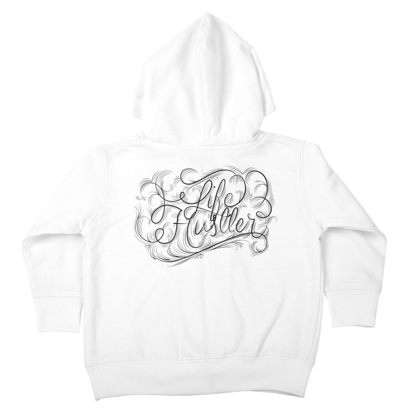 Life Hustler (Clear colors). Kids Toddler Zip-Up Hoody by The Mindful Tee