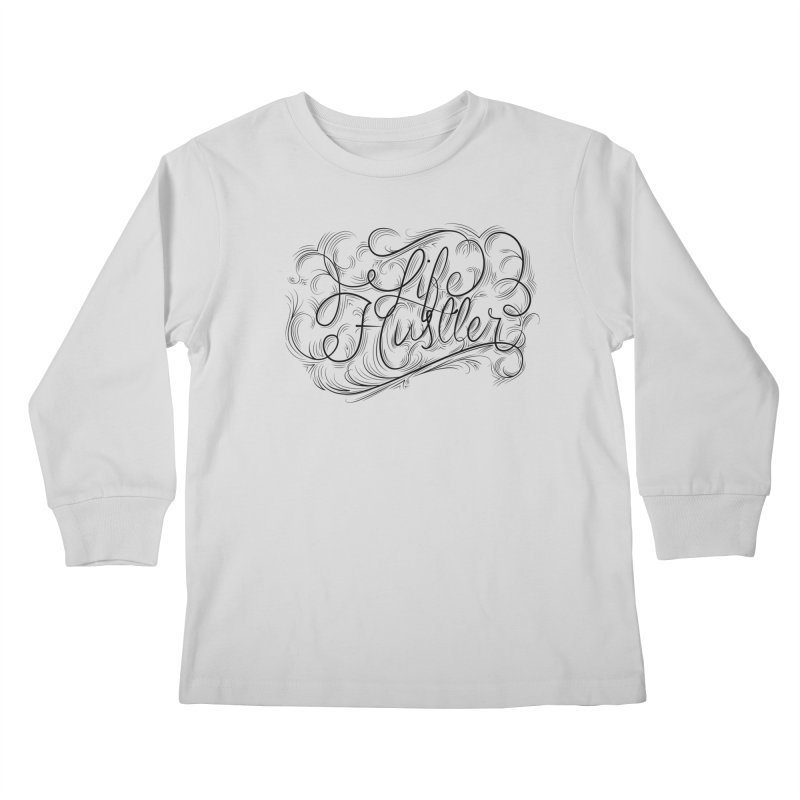 Life Hustler (Clear colors). Kids Longsleeve T-Shirt by The Mindful Tee
