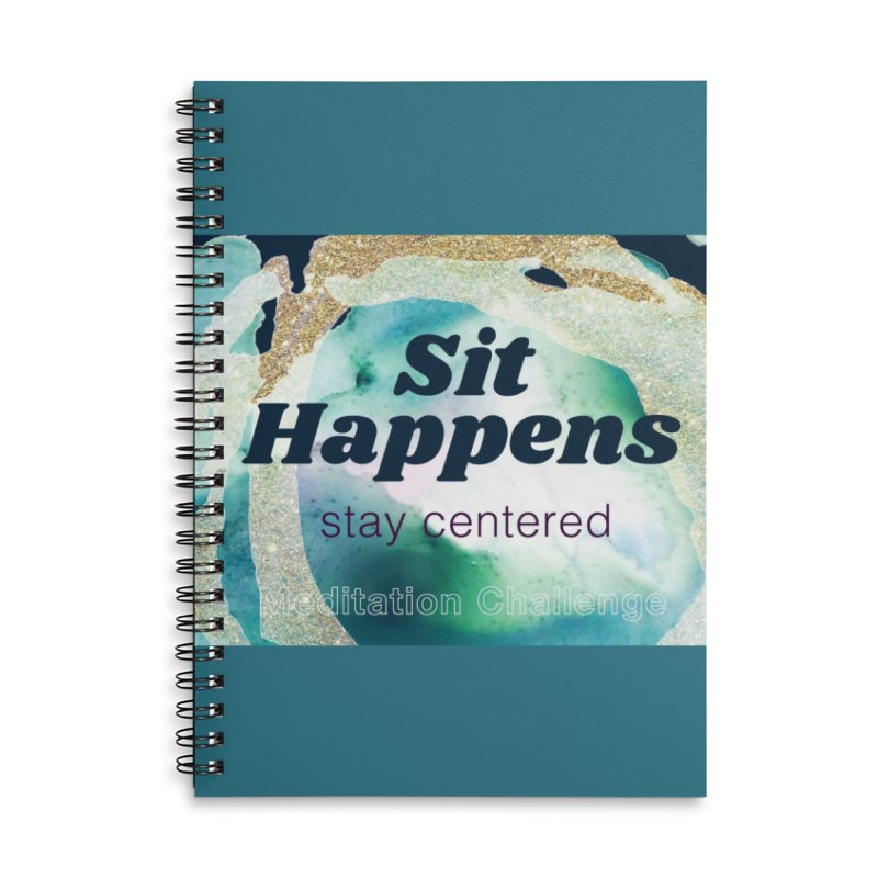 Meditation Swag in Lined Spiral Notebook by Support Community Meditation on Mind Oasis