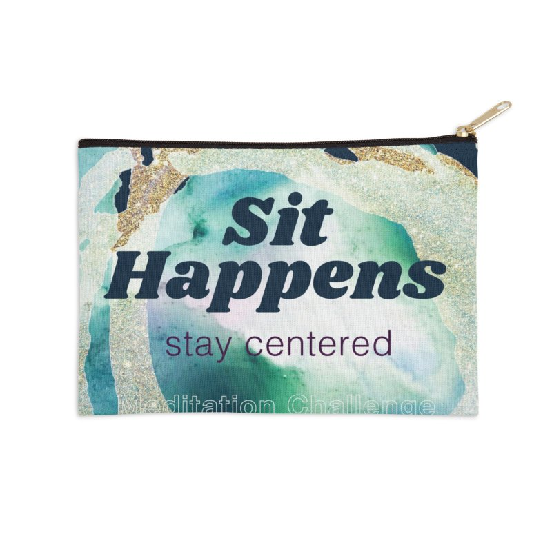 Meditation Swag Accessories Zip Pouch by Support Community Meditation on Mind Oasis
