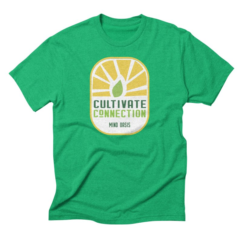 Cultivate Connection Men's T-Shirt by Support Community Meditation on Mind Oasis