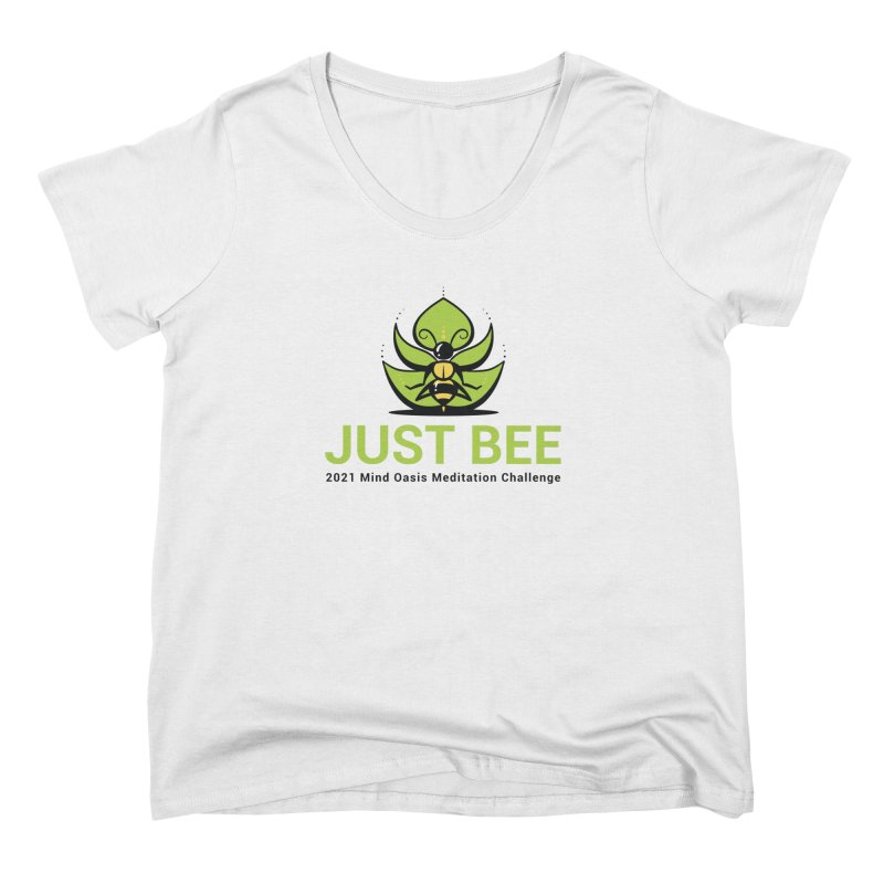 Just Bee Women's Scoop Neck by Support Community Meditation on Mind Oasis