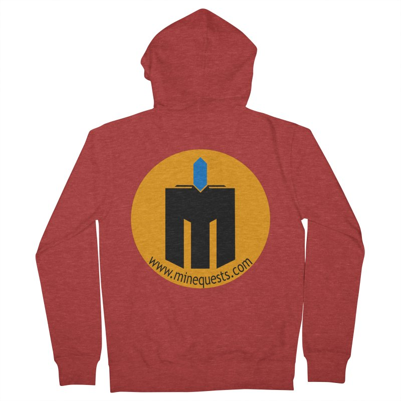 MQ - Website Men's French Terry Zip-Up Hoody by minequests's Artist Shop