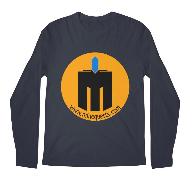 MQ - Website Men's Regular Longsleeve T-Shirt by minequests's Artist Shop