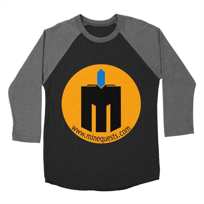 MQ - Website Men's Baseball Triblend Longsleeve T-Shirt by minequests's Artist Shop