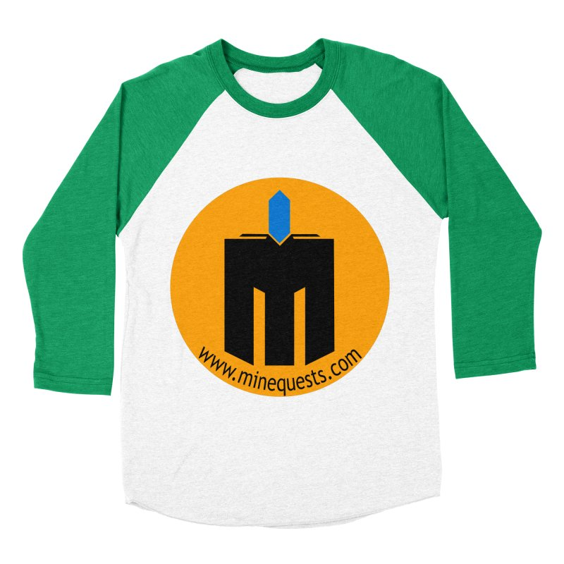 MQ - Website Men's Baseball Triblend Longsleeve T-Shirt by minequests's Artist Shop