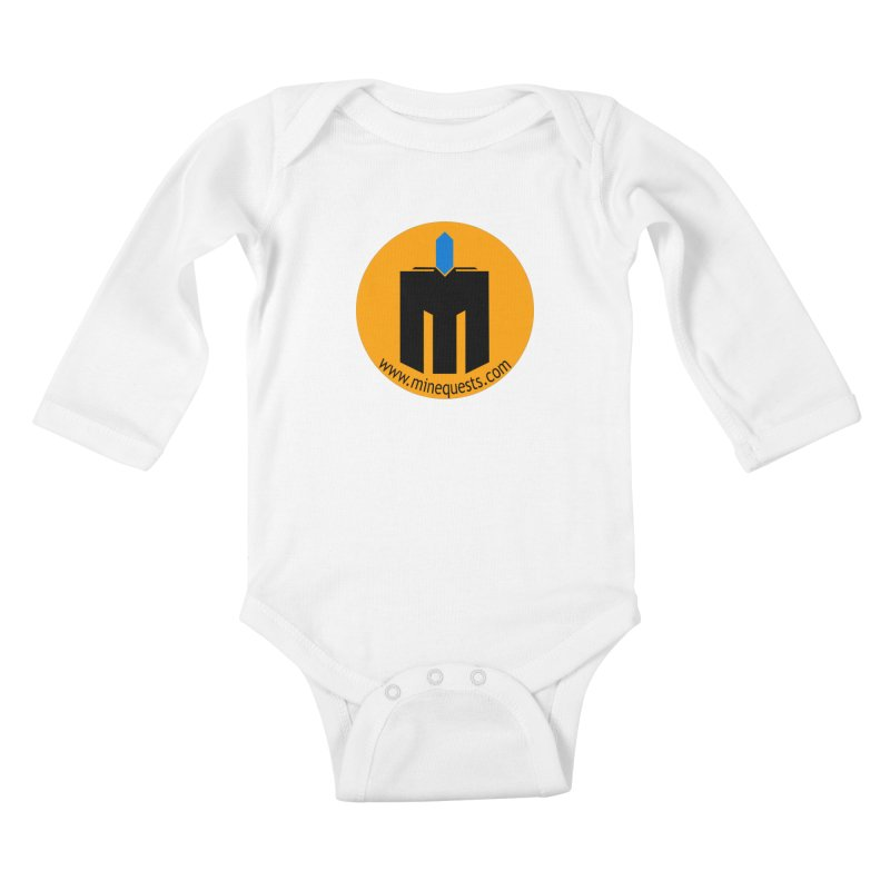 MQ - Website Kids Baby Longsleeve Bodysuit by minequests's Artist Shop