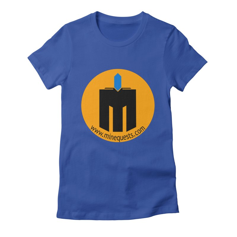 MQ - Website Women's Fitted T-Shirt by minequests's Artist Shop
