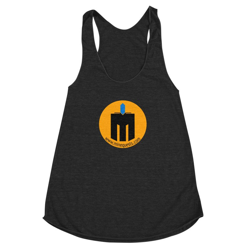 MQ - Website Women's Racerback Triblend Tank by minequests's Artist Shop