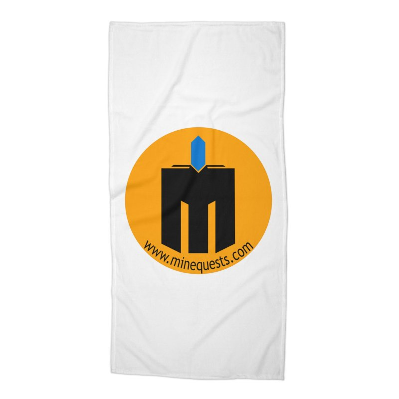 MQ - Website Accessories Beach Towel by minequests's Artist Shop