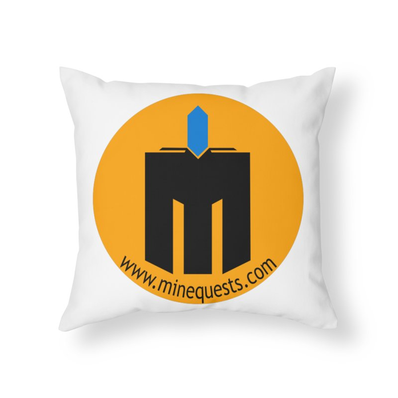MQ - Website Home Throw Pillow by minequests's Artist Shop