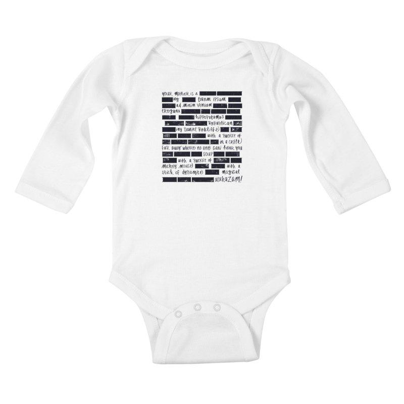 The Elder Swear Kids Baby Longsleeve Bodysuit by Ming Doyle