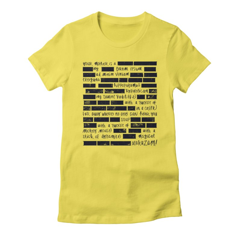 The Elder Swear Women's Fitted T-Shirt by Ming Doyle
