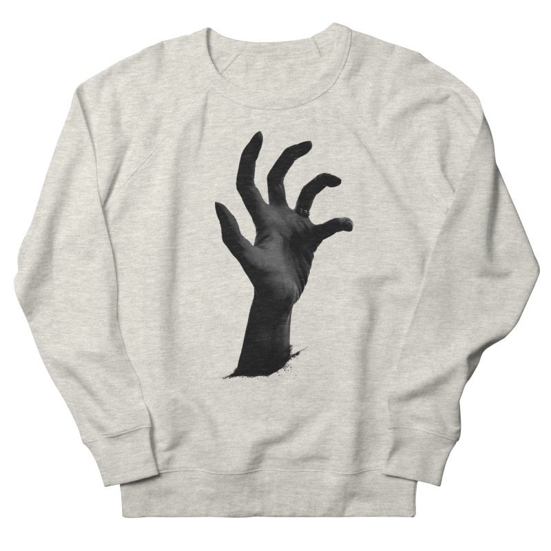 Crone Hand Men's French Terry Sweatshirt by Ming Doyle